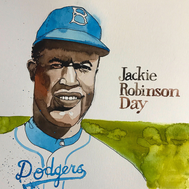 Jackie.Robinson.Watercolor