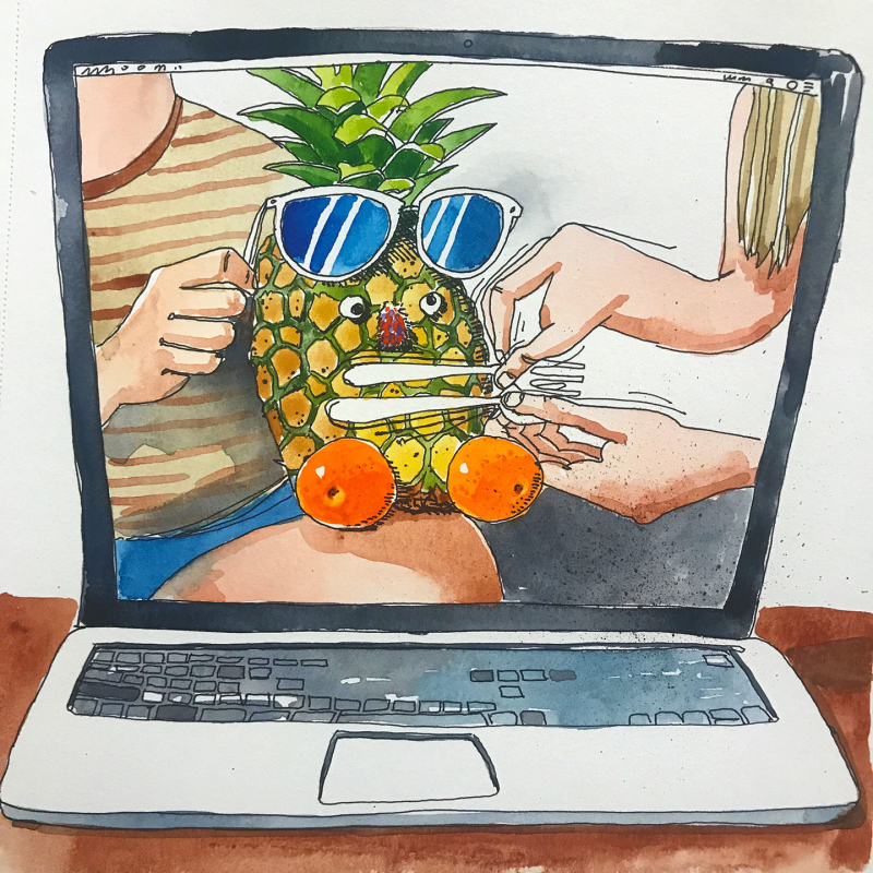 Talking-Pineapple-google-Hangout