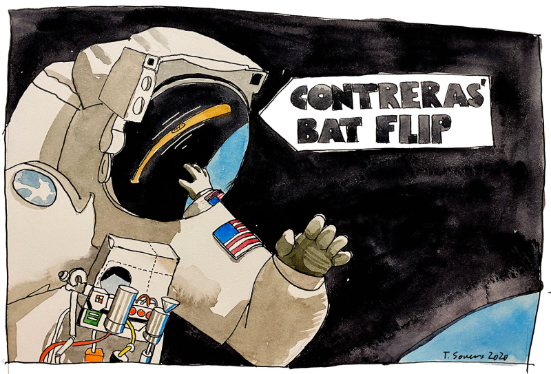 Contreras'-Bat-Flip-In-Space