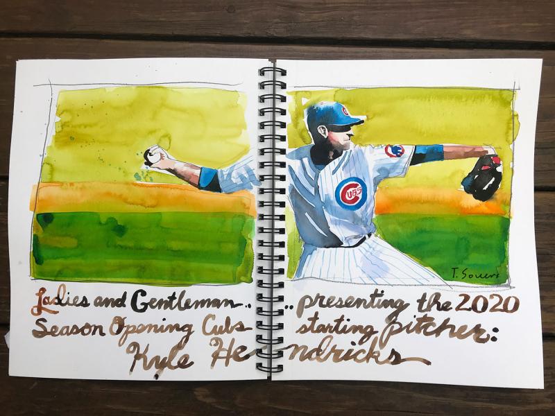 Kyle-Hendricks-watercolor-portrait