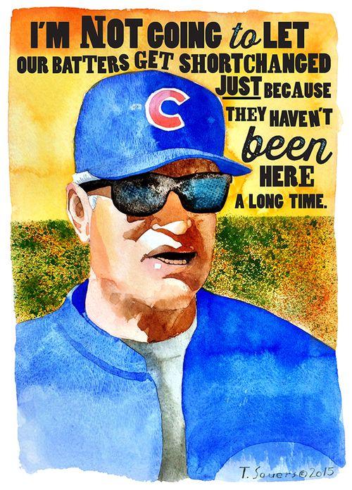 #Cubs Portrait Series, Joe Maddon, chicago cubs