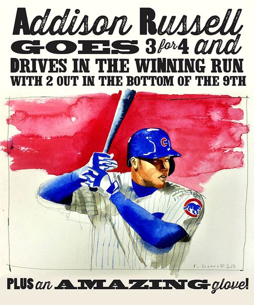 #Cubs Portrait Series,addison russell