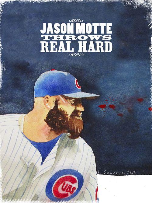 #Cubs Portrait Series,Jason Motte, chicago cubs