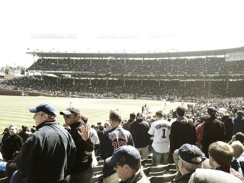 Wrigley Field, opening day 2012, 3rd base line